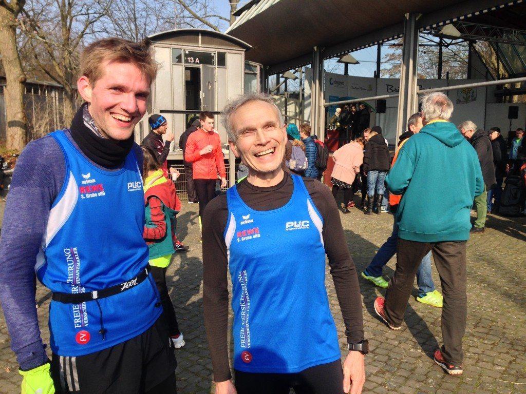 Matthias und H.-Wolfgang beim 27. Lauf im Britzer Garten (Vor dem Start)
