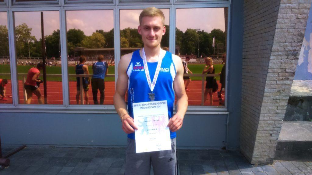 Lennart holt Silber über 100m.