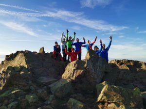 Auf dem Gipfel der Wolfswarte 918m üNN