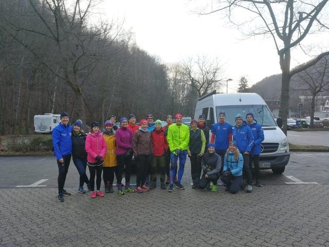 Lauf und Wanderfreunde vor dem Samstagsstart in Bad Harzburg